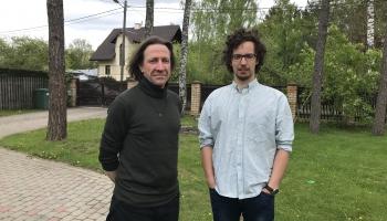 Jūrmalas teātra aktieri Ģirts Alsters un Mārtiņš Kagainis