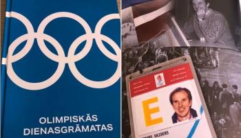 Sports: Tenisista Ernesta Gulbja panākumi. Olimpiskās dienasgrāmatas. Basketbola skola