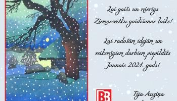 """Ieva Akuratere un Aivars Hermanis izdod dziesmu """"Ziemas dārzs"""""""