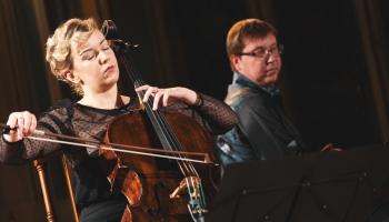 Čelliste Dace Zālīte-Zilberte un pianists Mārtiņš Zilberts sarunā un LR fondu ierakstos