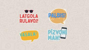 Latgola Ruļavoj! Vasala! - izveidotas latgaliskas online uzlīmes