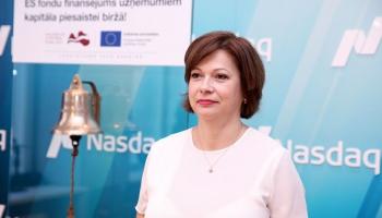"""""""Nasdaq Rīga"""" vadītāja: Sabiedrība ir gatava tam, ka biržā nonāks lielu uzņēmumu akcijas"""