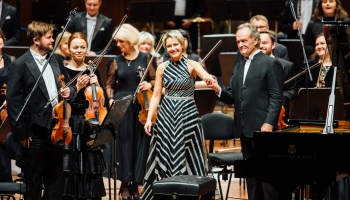 Arta Arnicāne (klavieres), LNSO un diriģents Žans Klods Kazadesī Lielajā ģildē, 2018