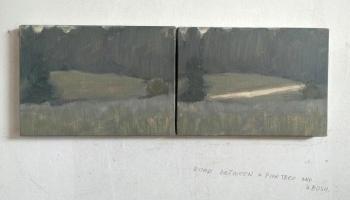 """Galerijā """"Māksla XO"""" aplūkojama Romāna Korovina izstāde """"Ceļš starp priedi un krūmu"""""""