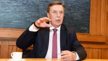 Наш гость - экс-премьер Марис Кучинскис