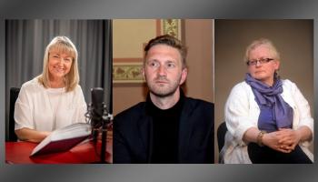 """""""Atsperē"""" saimnieko Gunda Vaivode un Sandis Voldiņš, intervijas viešņa - Edīte Tišheizere"""