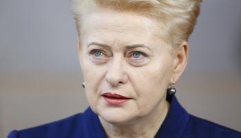 Lietuvas prezidente Daļa Grībauskaite: Lietuva nelokāmi ir kopā ar drosmīgo ukraiņu tautu