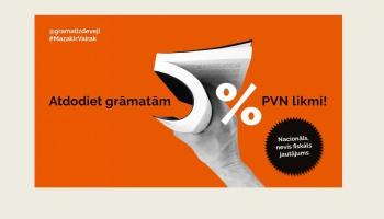 Grāmatnīcu logos rīko akciju par 5% PVN likmes ieviešanu grāmatām