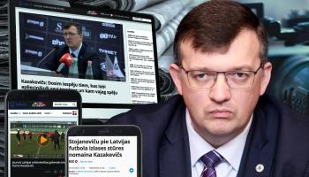 Cilvēks ziņu virsrakstos: Kazakevičs pie izlases stūres Latvijas futbolam necilos laikos
