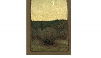 """Pēteris Krastiņš.  """"Mākoņi pār mežu"""" un """"Jauns mēness"""". Ap 1905.–1907. gadu"""
