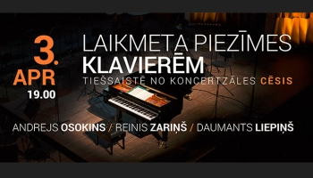 Andrejs Osokins, Reinis Zariņš un Daumants Liepiņš apvienosies īpašā tiešsaistes koncertā