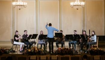 Andris Vecumnieks un Daniels Sabanskis par JVLMA simfoniskā orķestra kamerkoncertu