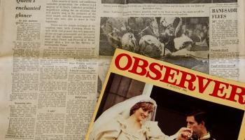 28. augusts. Šķirta Lielbritānijas kroņprinča Čārlza un princeses Diānas laulība