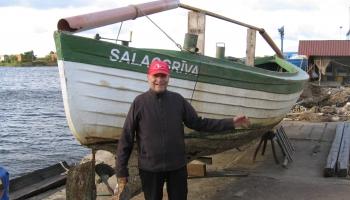 Pie piekrastes zvejnieka Jāņa Krūmiņa Salacgrīvas novada Kuivižos