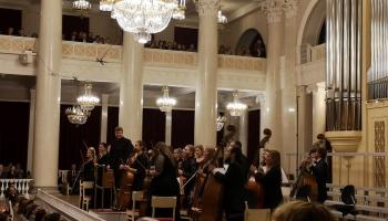 """Orķestris """"Accademia Baltica"""" tūri noslēdz Sanktpēterburgā. Oresta Silabrieža iespaidi"""