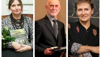 Kristiāna Ābele, Laima Slava un Valdis Villerušs sarunā par mākslas pētniecību