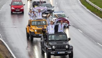 Latvijā ar zelta medaļām atgriežas 3x3 basketbolisti. Viesos: Anete Jēkabsone-Žogota