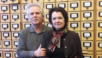"Lelde un Andris Pauli spēlē Šūberta Fantāziju un Plakida opusu ""Mālers apmeklē kabarē"""