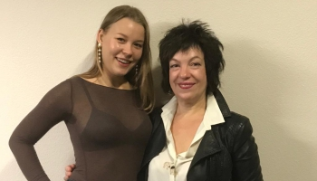 Dziedātāja Ļubova Karetņikova un pianiste Inna Davidova