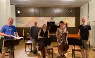 """Cik dzīve ir skaista! Saruna ar klavieru kvartetu """"RIX"""" un komponistu Armandu Skuķi"""