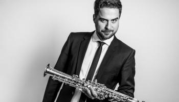JVLMA un RDKS bigbenda vadītājs Dāvis Jurka un Baltijas jaunie komponisti - bigbendam