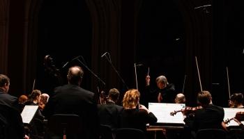 """""""Sinfonietta Rīga"""" un trompete, """"Trio Palladio"""" un Vīne, Hačaturjana trio un Pelēcis"""