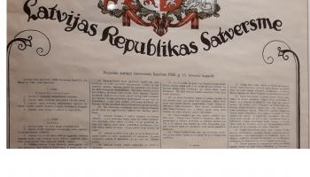 7.novembris. 1922.gads. Stājas spēkā Latvijas Satversme