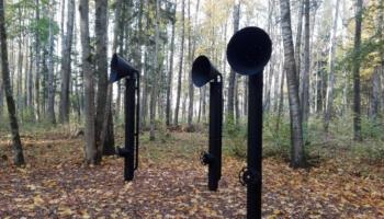 Cīravas Mežaparkā vides objekti veido Skaņo taku