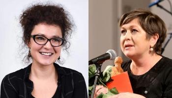 Runā rakstnieces. Nora Ikstena un Sabīne Košeļeva