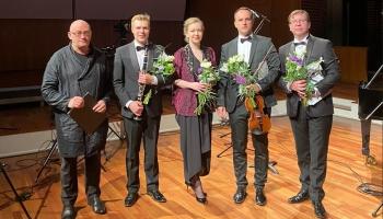 """LNSO klaviertrio koncerts """"Brāmss un klezmeru kāzas"""" Lielajā ģildē"""
