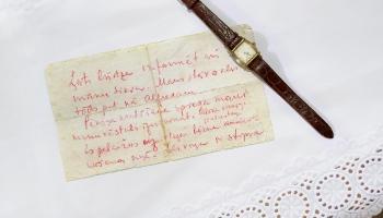 Aizvesto ardievas: kapteiņa Aleksandra Bolšaita vēstule sievai