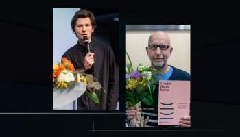 Tiekamies ar 2020. gada Dzejas dienu balvas laureātiem Raimondu Ķirķi un Jāni Hvoinski