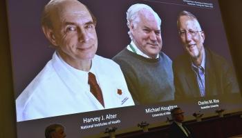 Nobela prēmija medicīnā piešķirta par C hepatīta pētījumiem