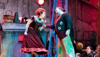 Marina Rebeka: Interesantākais Nedas tēlā ir pārtapšana Kolumbīnē – teātris teātrī
