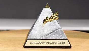Paziņoti nominanti Latvijas Gada balvai sportā 2018